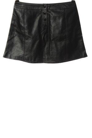 H&M Divided Kunstlederrock schwarz Casual-Look