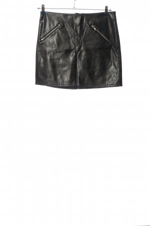 H&M Divided Faux Leather Skirt black casual look