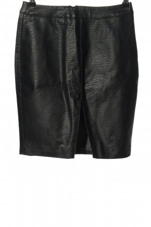 H&M Divided Faux Leather Skirt black extravagant style