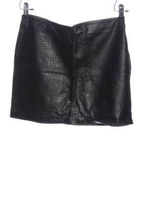 H&M Divided Falda de cuero de imitación negro estampado de animales