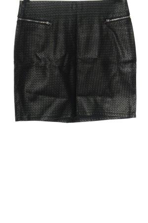 H&M Divided Spódnica z imitacji skóry czarny Imprezowy wygląd