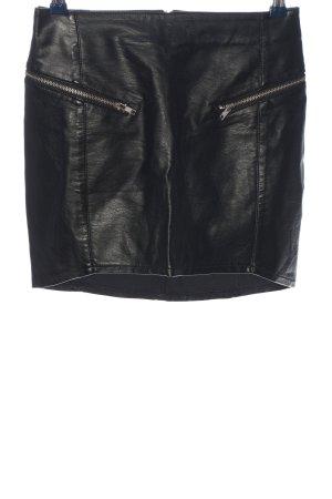 H&M Divided Jupe en cuir synthétique noir style décontracté