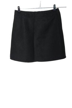 H&M Divided Spódnica z imitacji skóry czarny W stylu biznesowym