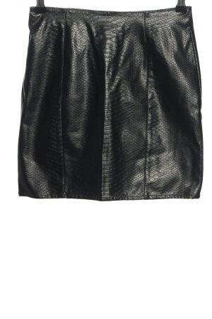 H&M Divided Spódnica z imitacji skóry czarny Zwierzęcy wzór W stylu casual