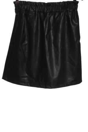 H&M Divided Kunstlederrock schwarz Elegant
