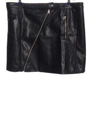 H&M Divided Spódnica z imitacji skóry czarny Z połyskiem