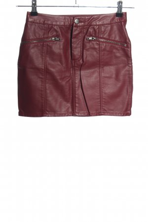 H&M Divided Faux Leather Skirt red casual look