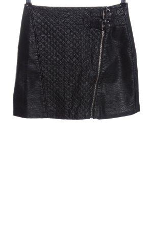 H&M Divided Spódnica z imitacji skóry czarny Elegancki