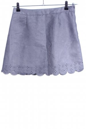 H&M Divided Gonna in ecopelle blu stile casual