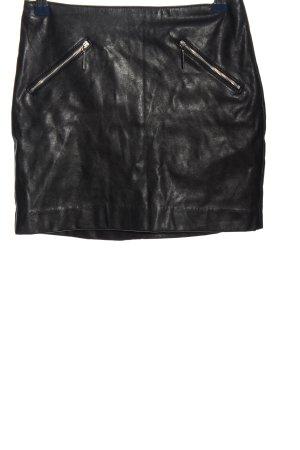 H&M Divided Falda de cuero de imitación negro look casual