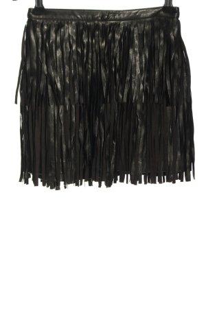 H&M Divided Spódnica z imitacji skóry czarny W stylu casual