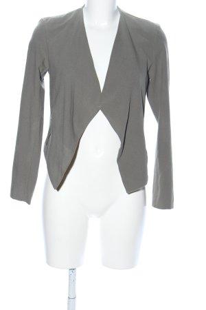 H&M Divided Kurz-Blazer hellgrau Casual-Look