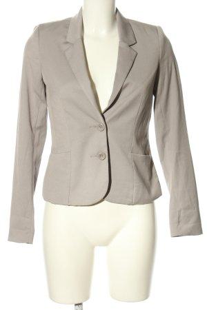 H&M Divided Kurz-Blazer hellgrau Business-Look