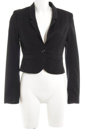 H&M Divided Kurz-Blazer schwarz klassischer Stil