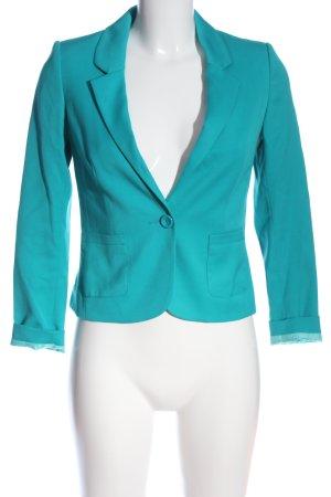 H&M Divided Kurz-Blazer türkis Business-Look
