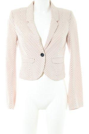 H&M Divided Kurz-Blazer creme-schwarz Punktemuster Business-Look