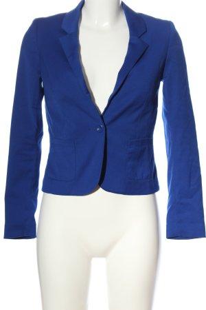 H&M Divided Kurz-Blazer blau Elegant