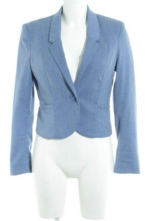 H&M Divided Kurz-Blazer blau Jeans-Optik