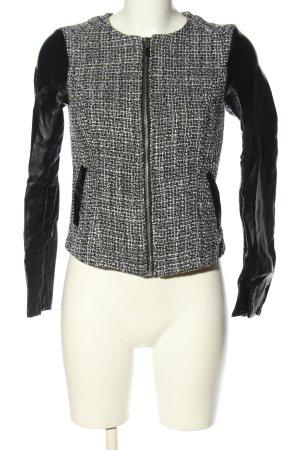 H&M Divided Kurz-Blazer schwarz-weiß Karomuster Casual-Look