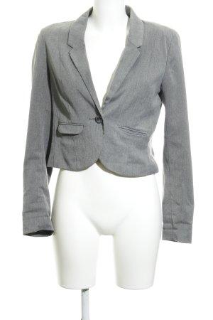 H&M Divided Kurz-Blazer grau Business-Look