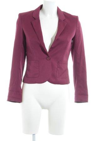 H&M Divided Kurz-Blazer karminrot Business-Look