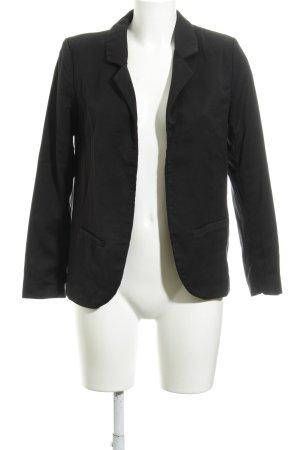 H&M Divided Kurz-Blazer schwarz Business-Look