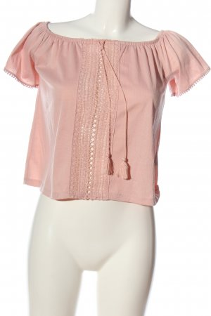 H&M Divided Kurzarm-Bluse nude Casual-Look