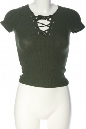 H&M Divided Kurzarm-Bluse khaki Casual-Look
