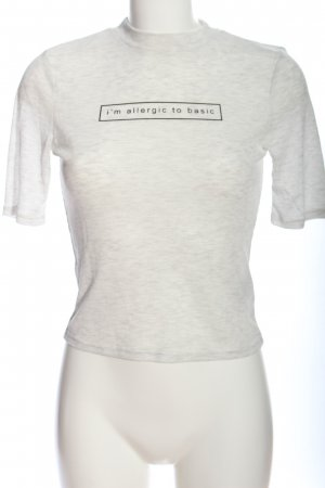 H&M Divided Ribbed Shirt white-black printed lettering casual look