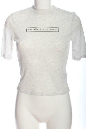 H&M Divided Geribd shirt wit-zwart gedrukte letters casual uitstraling
