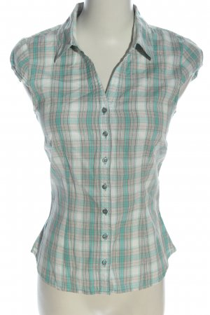 H&M Divided Kurzarm-Bluse Karomuster Casual-Look