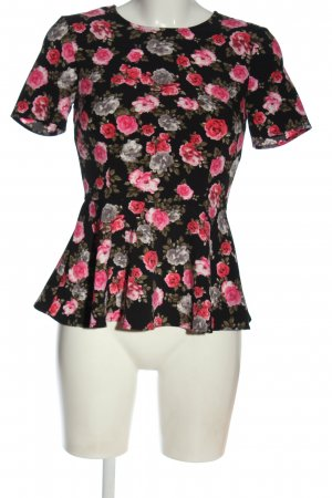 H&M Divided Kurzarm-Bluse Allover-Druck Business-Look
