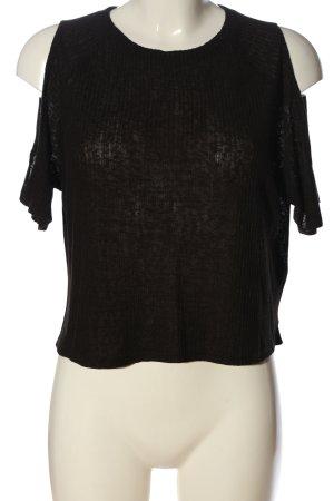 H&M Divided Kurzarm-Bluse braun Casual-Look