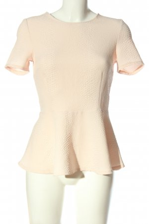 H&M Divided Kurzarm-Bluse creme Business-Look