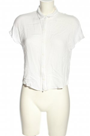 H&M Divided Kurzarm-Bluse weiß Business-Look