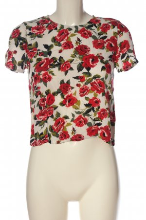 H&M Divided Kurzarm-Bluse Allover-Druck Casual-Look
