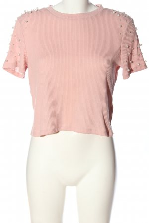 H&M Divided Kurzarm-Bluse pink Casual-Look