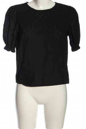 H&M Divided Kurzarm-Bluse schwarz Casual-Look