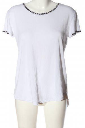 H&M Divided Kurzarm-Bluse weiß Casual-Look