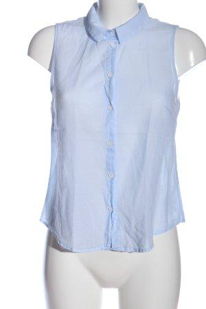 H&M Divided Kurzarmhemd blau Casual-Look
