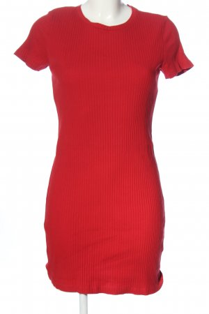 H&M Divided Kurzarmkleid rot Casual-Look