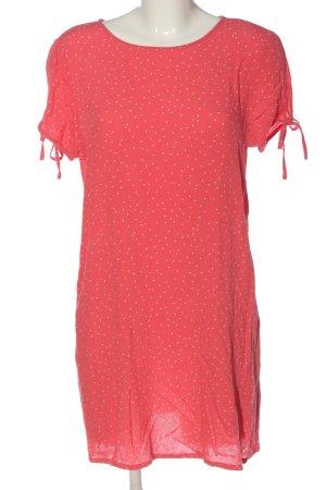 H&M Divided Kurzarmkleid rot-weiß Punktemuster Casual-Look