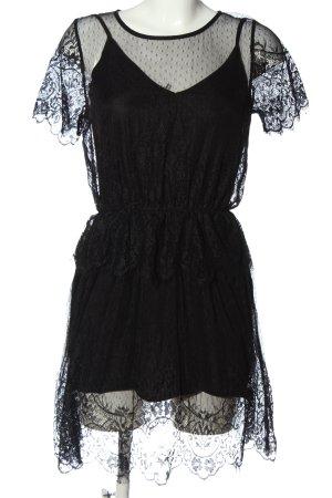 H&M Divided Kurzarmkleid schwarz Elegant