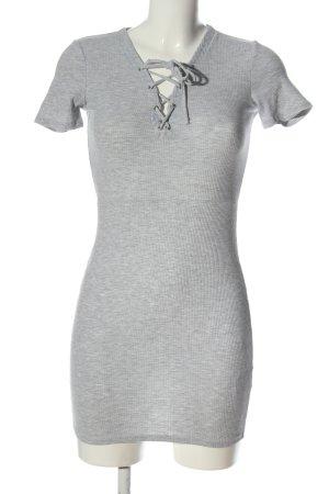 H&M Divided Shortsleeve Dress light grey flecked casual look