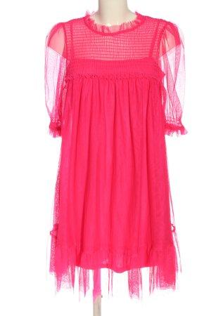 H&M Divided Kurzarmkleid pink Elegant
