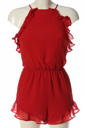 H&M Divided Kurzer Jumpsuit rot Casual-Look