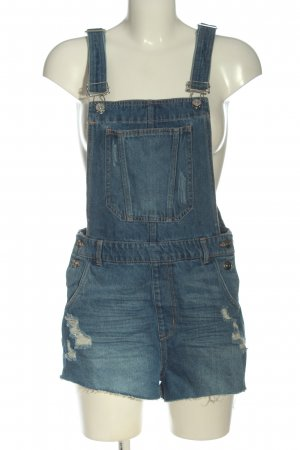 H&M Divided Kurzer Jumpsuit blue casual look