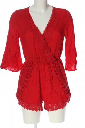 H&M Divided Kurzer Jumpsuit red casual look