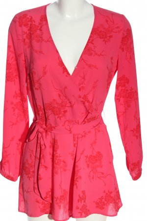 H&M Divided Kurzer Jumpsuit rot Blumenmuster Casual-Look