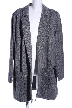 H&M Divided Abrigo corto gris claro Patrón de tejido estilo «business»